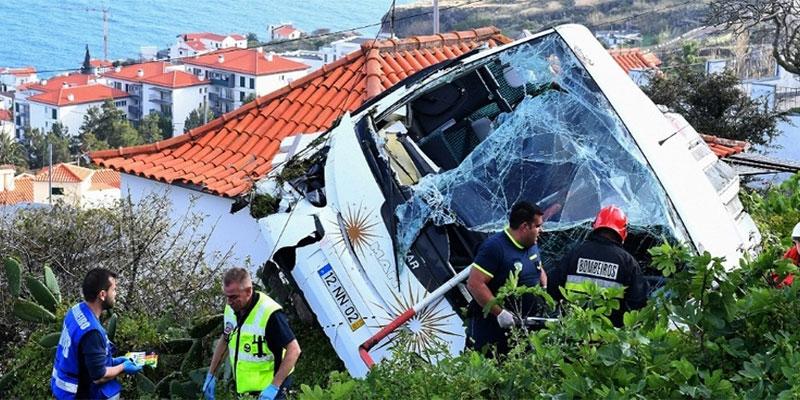 Portugal : 29 touristes allemands tués dans un accident de bus à Madère