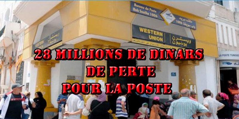 La poste essuie une perte de 28 millions de dinars