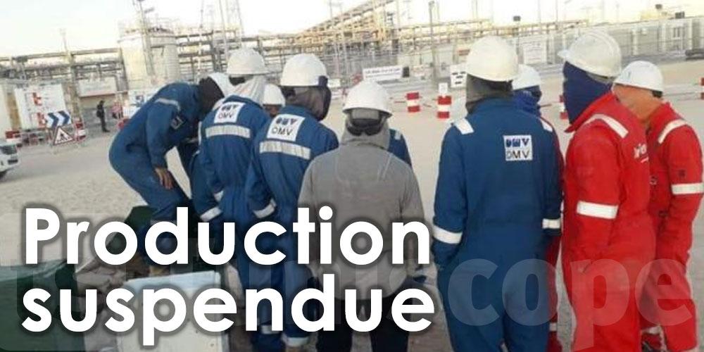 Suspension de la production dans les champs de Nawara et El Waha