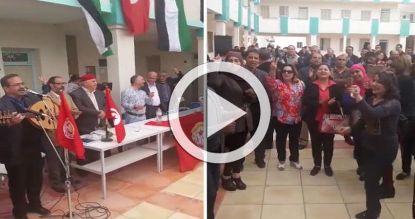 بالفيديو..الأساتذة يحتفلون بنجاح الإضراب لليوم الثاني على التوالي