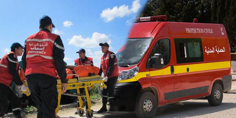 Un camion de pompiers se renverse à Grombalia
