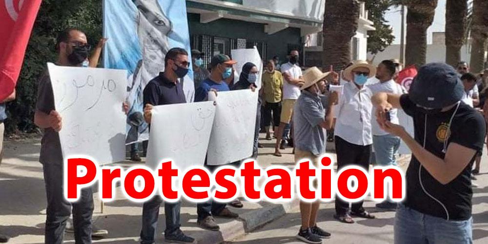 Protestation à Jendouba pour réclamer le départ du gouverneur