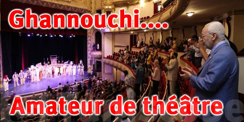Photo du jour : Ghannouchi au théâtre municipal de Tunis