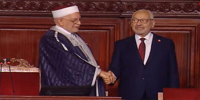 صورة اليوم، راشد الغنوشي يتسلم رئاسة البرلمان