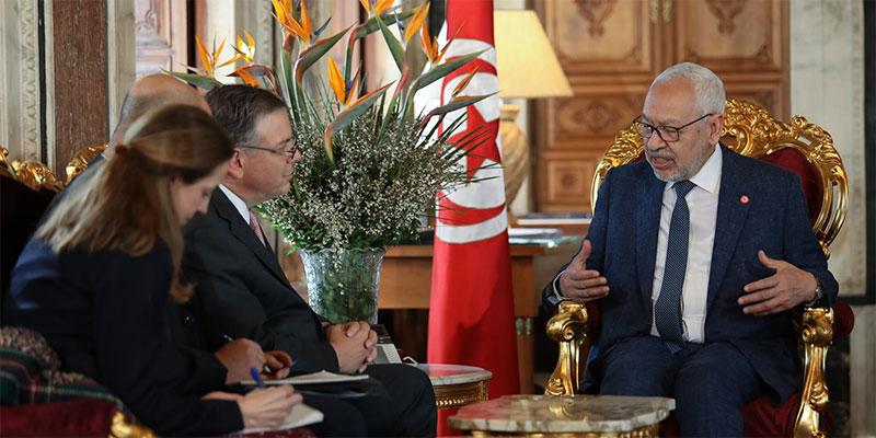 الغنوشي يستقبل السفير الأمريكي بتونس
