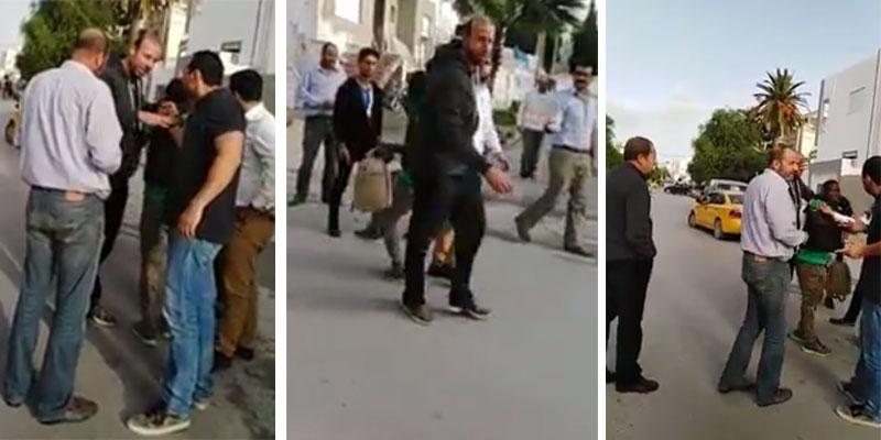 فيديو لتونسي يعنف مواطنا اجنبي اسمر البشرة في المرسى يثير الجدل