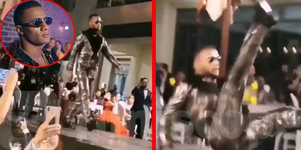 بالفيديو..لحظة سقوط محمد رمضان في مهرجان ضيافة أمام الجمهور