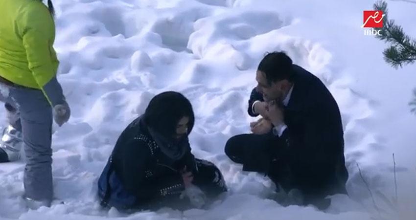 بالفيديو..اصابة هنادي الكنداري على الهواء في مقلب رامز جلال