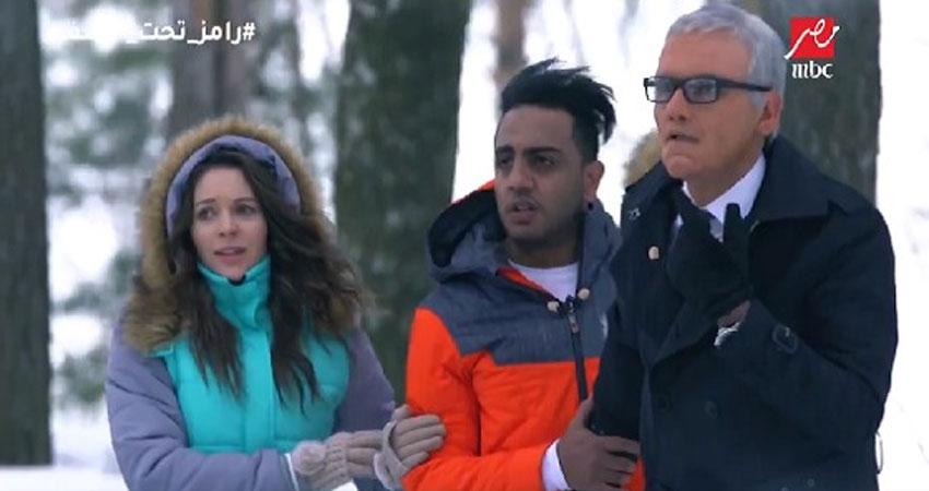 بالفيديو.. هروب سريع للفنان الكوميدي محمد أسامة من أمام نمر رامز