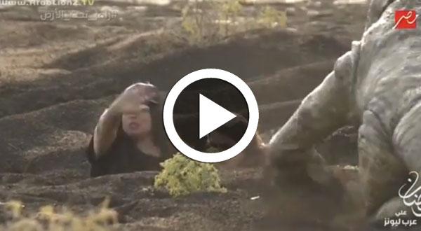 بالفيديو..'فيفي عبدو' أول ضحايا 'رامز تحت الأرض'