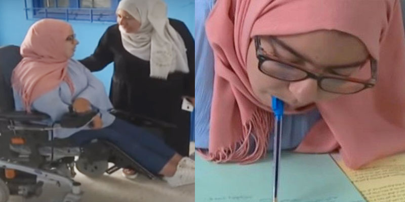 En vidéo : Ranime passe les épreuves du baccalauréat malgré son handicap
