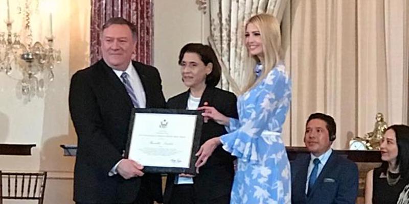 Ivanka Trump honore Raoudha Laabidi à Washington