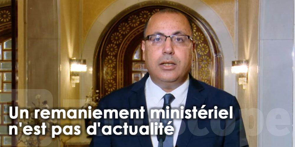Un remaniement ministériel n'est pas d'actualité