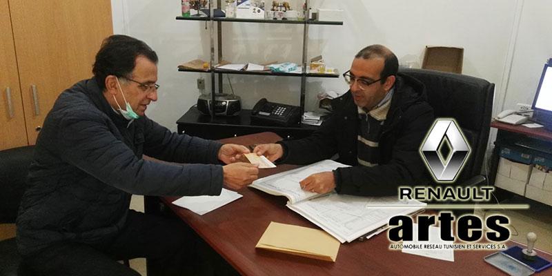 ARTES Renault   fait don de 1 Million de Dinars au profit du Fonds 18 18