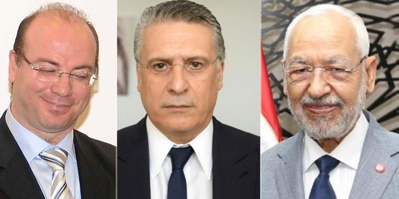 Ghannouchi reçoit Fakhfakh et Karoui