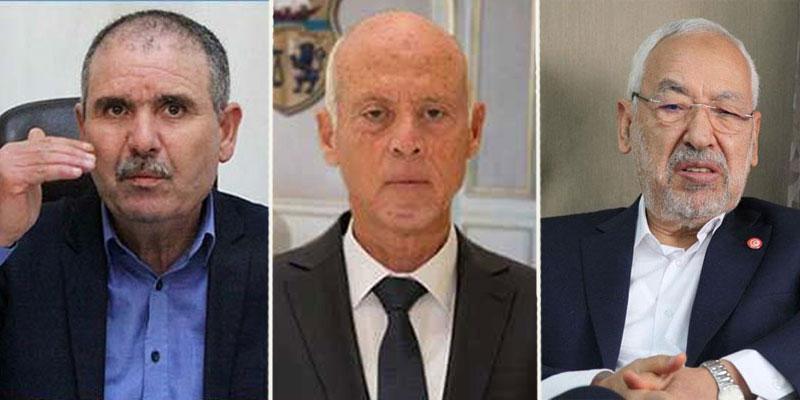 Kaïs Saïed se réunit avec Rached Ghannouchi et Noureddine Taboubi