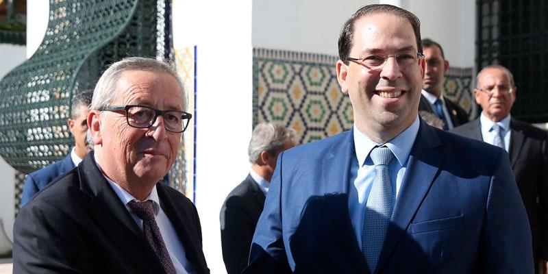 En photos : Youssef Chahed rencontre le président de la Commission européenne Jean-Claude Juncker