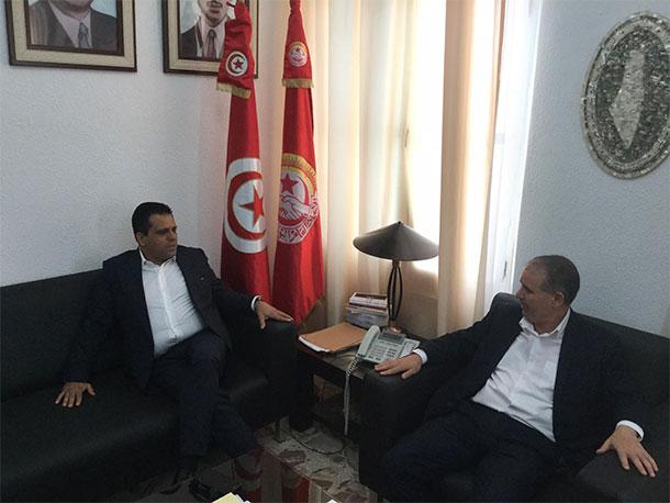 Rencontre entre Slim Riahi et Noureddine Taboubi