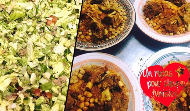 En photos : Des repas gratuits distribués par l'association ''Un repas pour chaque tunisien