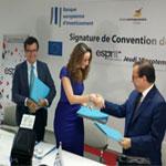 Signature de la convention de partenariat BEI, AMEN BANK et RET