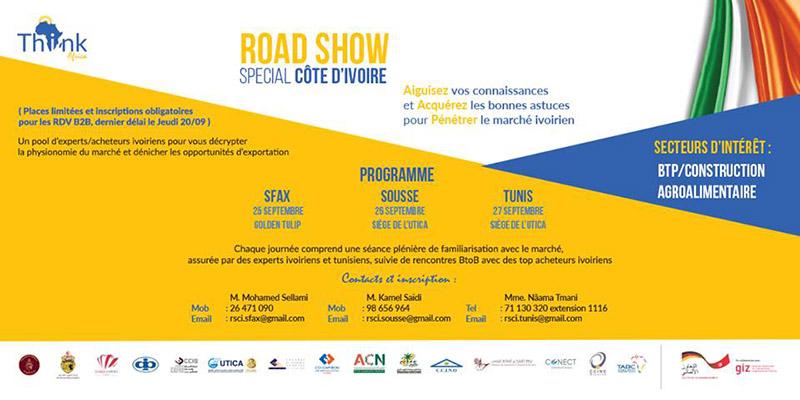 Tunisie : 3 road shows pour présenter les opportunités d'affaires en Côte d'Ivoire