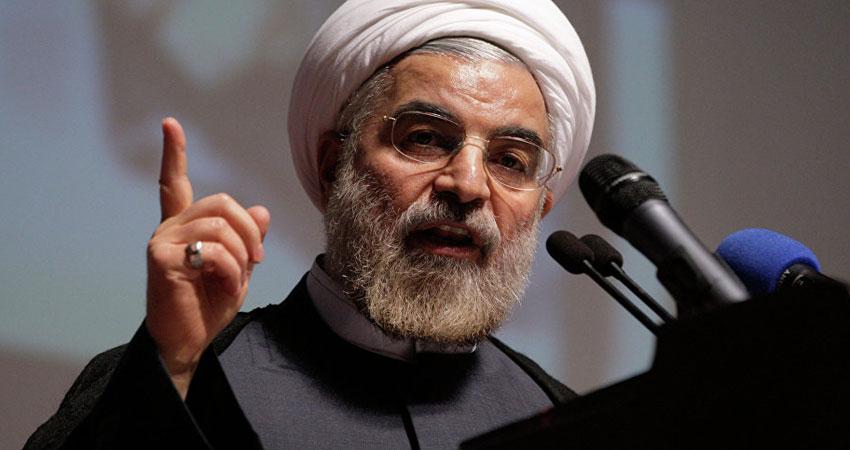الرئيس الإيراني يتوعد الولايات المتحدة بالهزيمة
