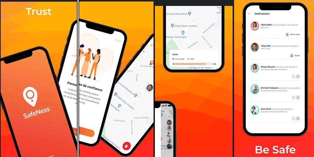 تطبيقة  للهاتف المحمول من أجل فضاء عام أكثر أمانا للنساء : SafeNess
