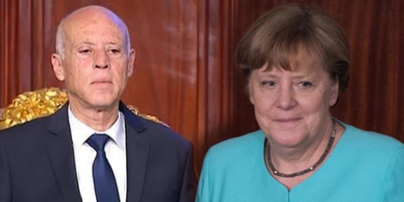 رفض المشاركة في مؤتمر برلين: أنجيلا ميركل تعبّر عن أسفها لقيس سعيّد