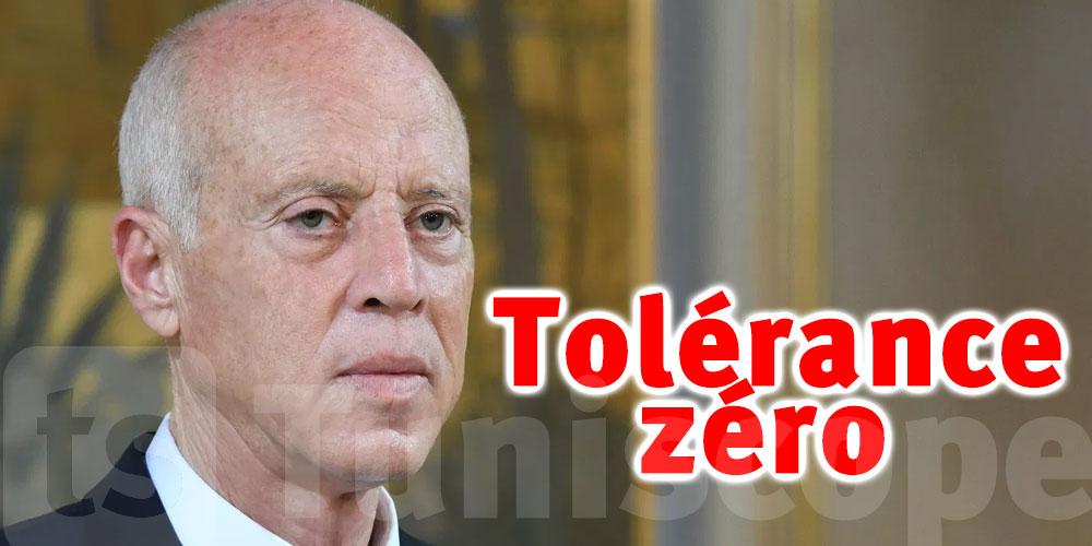 Saïed prône la tolérance zéro face à la corruption