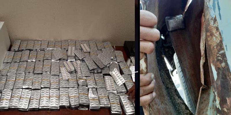 إحباط تهريب 9070 قرص دواء مخدر بالمعبر الحدودي برأس جدير