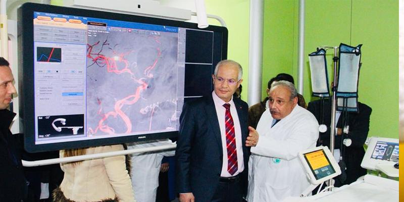 انطلاق استغلال قاعة تصوير الشرايين لعلاج تشوهات الأوعية الدموية والنخاع الشوكي بمعهد الأعصاب