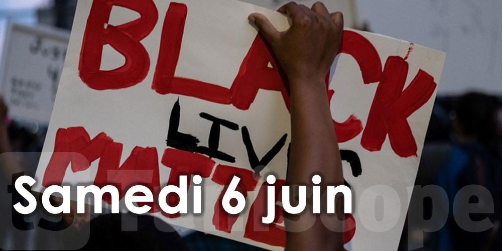 Manifestation à Tunis en solidarité avec Black Lives Matter