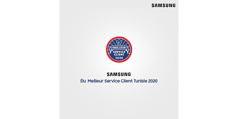 SAMSUNG TUNISIE remporte le label « MEILLEUR SERVICE CLIENT DE L'ANNÉE 2020 »