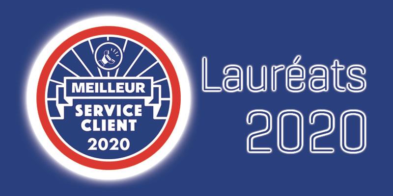 Les lauréats MEILLEUR SERVICE CLIENT 2020 dévoilés