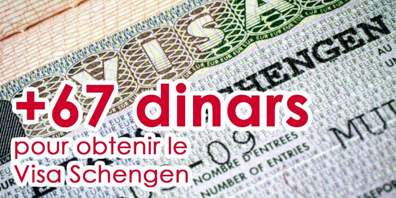 67 dinars de plus pour obtenir le Visa Schengen