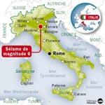 Séisme meurtier en Italie: six morts et des centaines de personnes passent la nuit dans des refuges de fortune