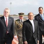 بالصّور : المنصف المرزوقي يستقبل الرئيس الصربي
