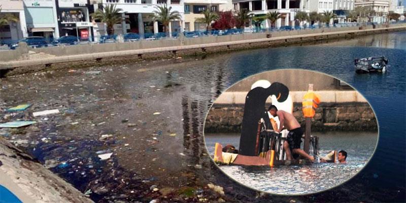 صور مؤسفة، أطفال يسبحون في مياه ملوثة بصفاقس