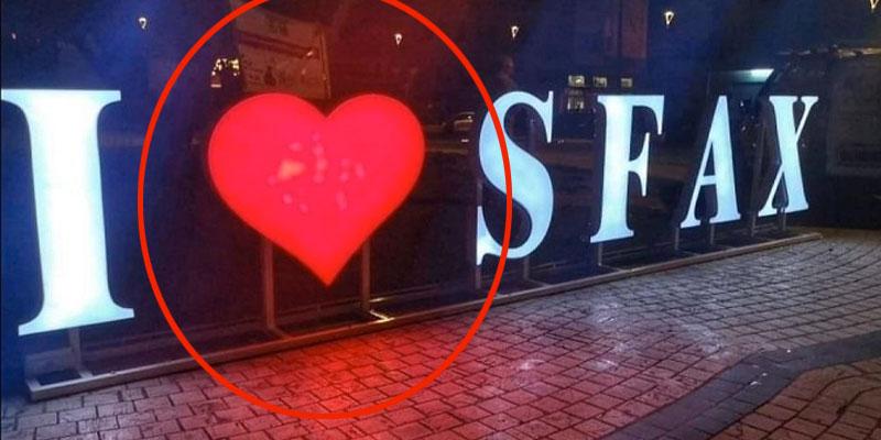 Le cœur d'''I Love Sfax'' Volé