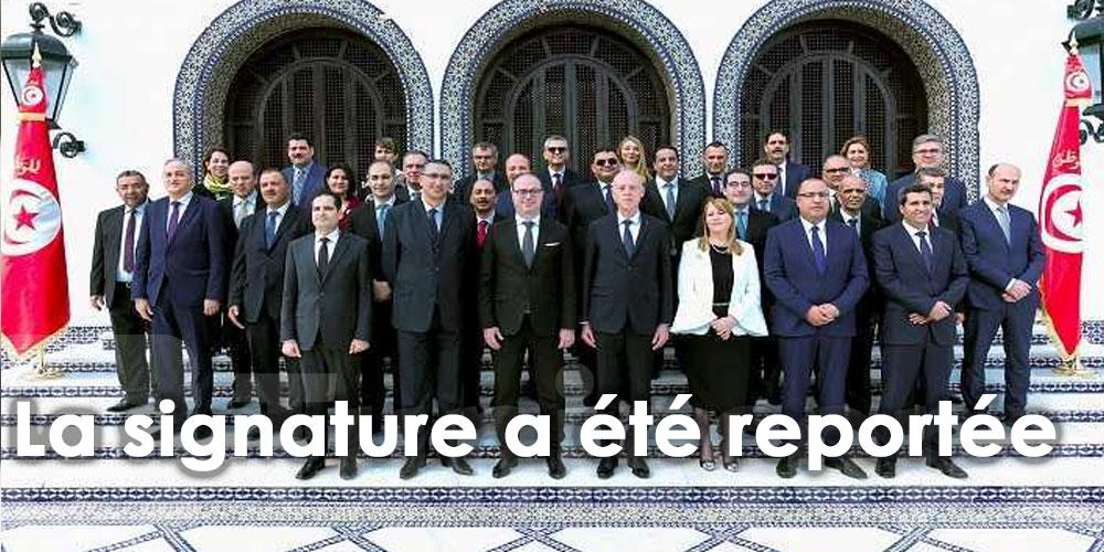La signature du Pacte de la stabilité et de la solidarité gouvernementale reportée