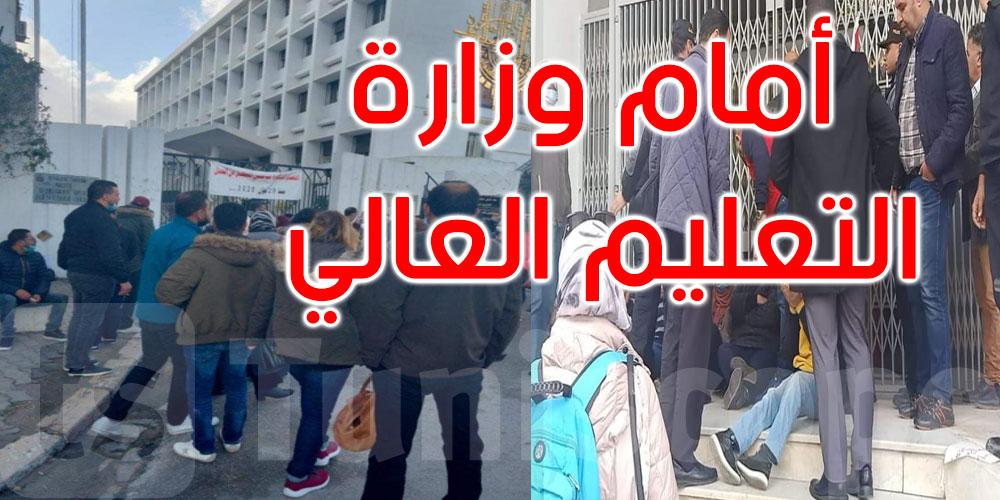 الاعتداء بالعنف على دكاترة محتجين من قبل قوات الأمن