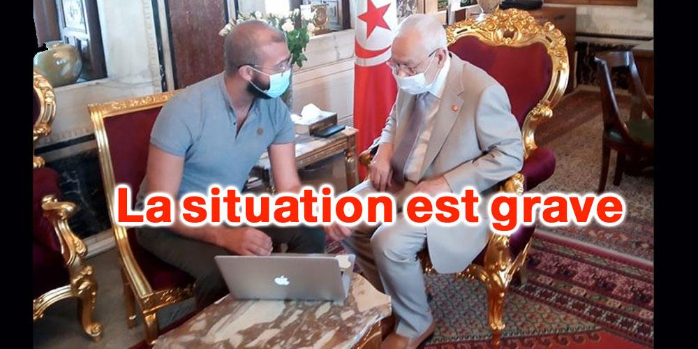 Rached Ghanouchi s'entretient avec Dr Zakaria Bouguerra