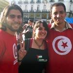 Thameur Mekki et Yassine Ayari parlent de la Tunisie à Madrid devant les Indignés