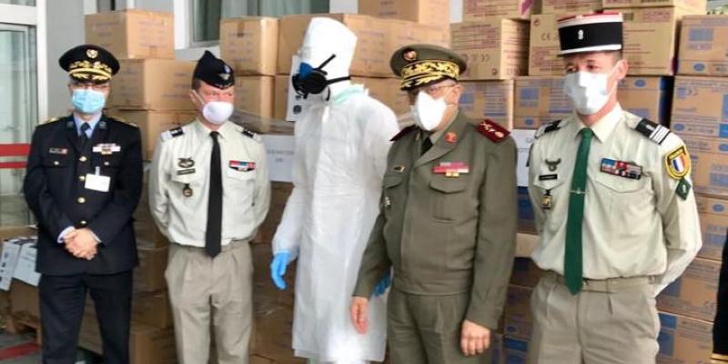 Dons de matériels de protection par la France à la Tunisie
