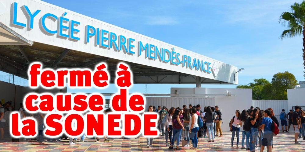 À cause de la SONEDE, le lycée Pierre Mendès France ferme ses portes
