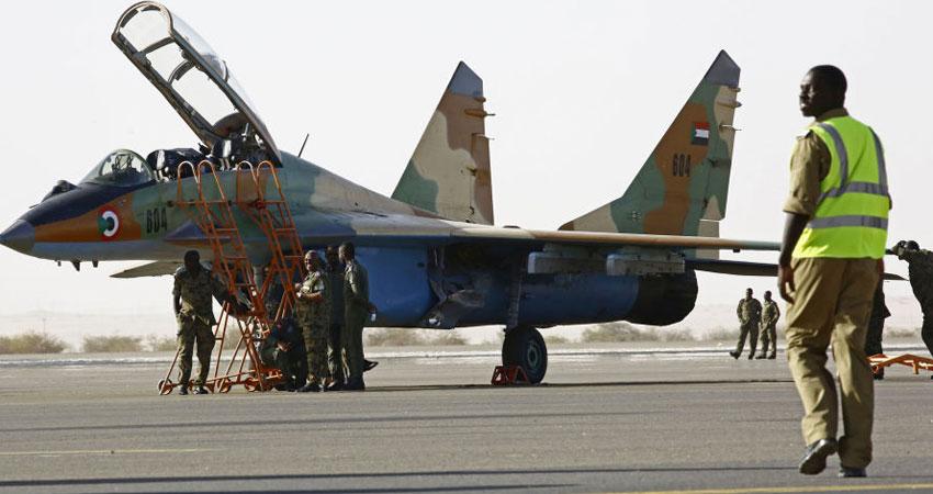 سقوط طائرة حربية في السودان ومقتل طاقمها