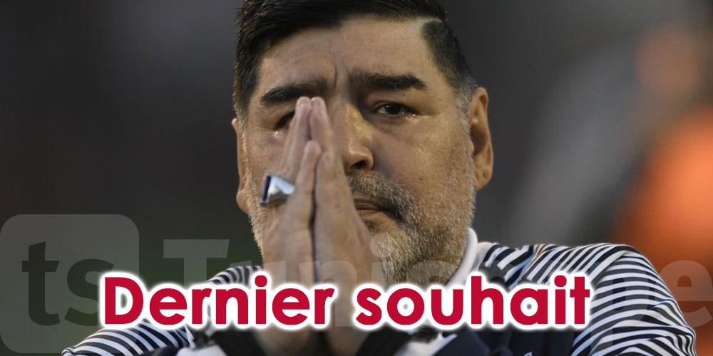 Le ''dernier souhait'' formulé par Maradona dans son testament ''étonne'' ses proches