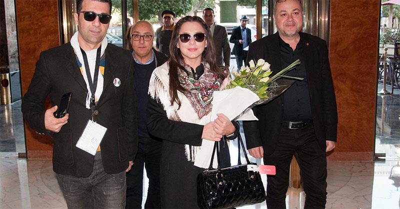 بالصور: وصول الفنانة السورية سلاف فواخرجي إلى تونس