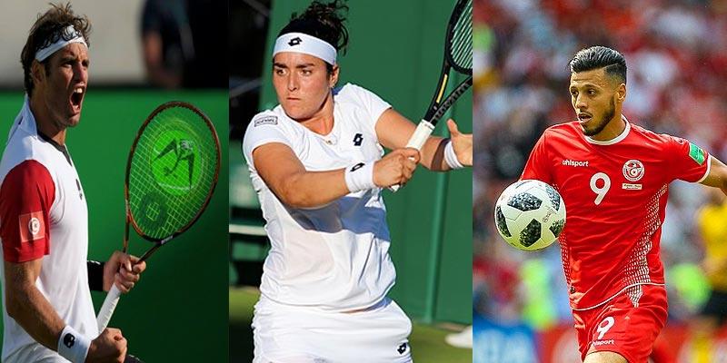 Les internautes choisissent Malek Jaziri, Ons Jabeur et Anice Badri meilleurs sportifs 2018