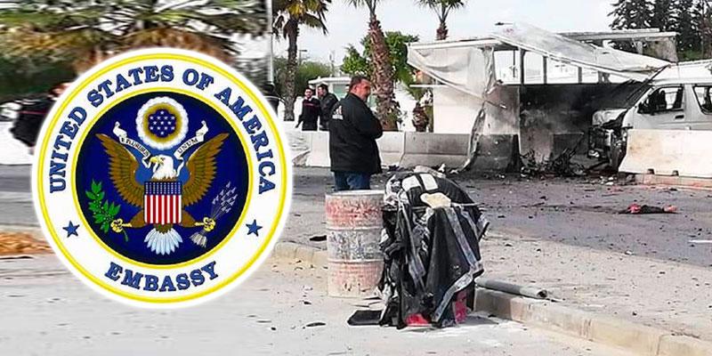 L'ambassade US communique sur l'attentat